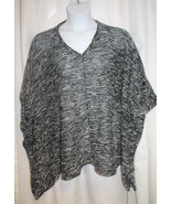 NEW WOMENS PLUS SIZE FRENCH LAUNDRY 1X/3X  V-NECK PONCHO WITH BUTTON TAB - $19.34