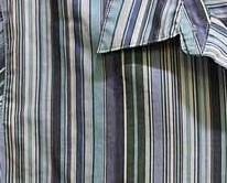 Studio Works Blue Stripe Long Sleeve Woman's Button Blouse