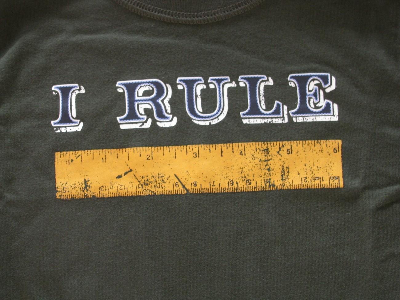 NWT Gymboree Active Tee Boy Long Sleeve ' I Rule ' School To