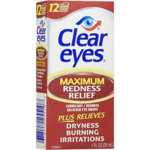 Clear Eyes Maximum Redness Relief Eye Drops 1 oz Pack of 2 - $19.58