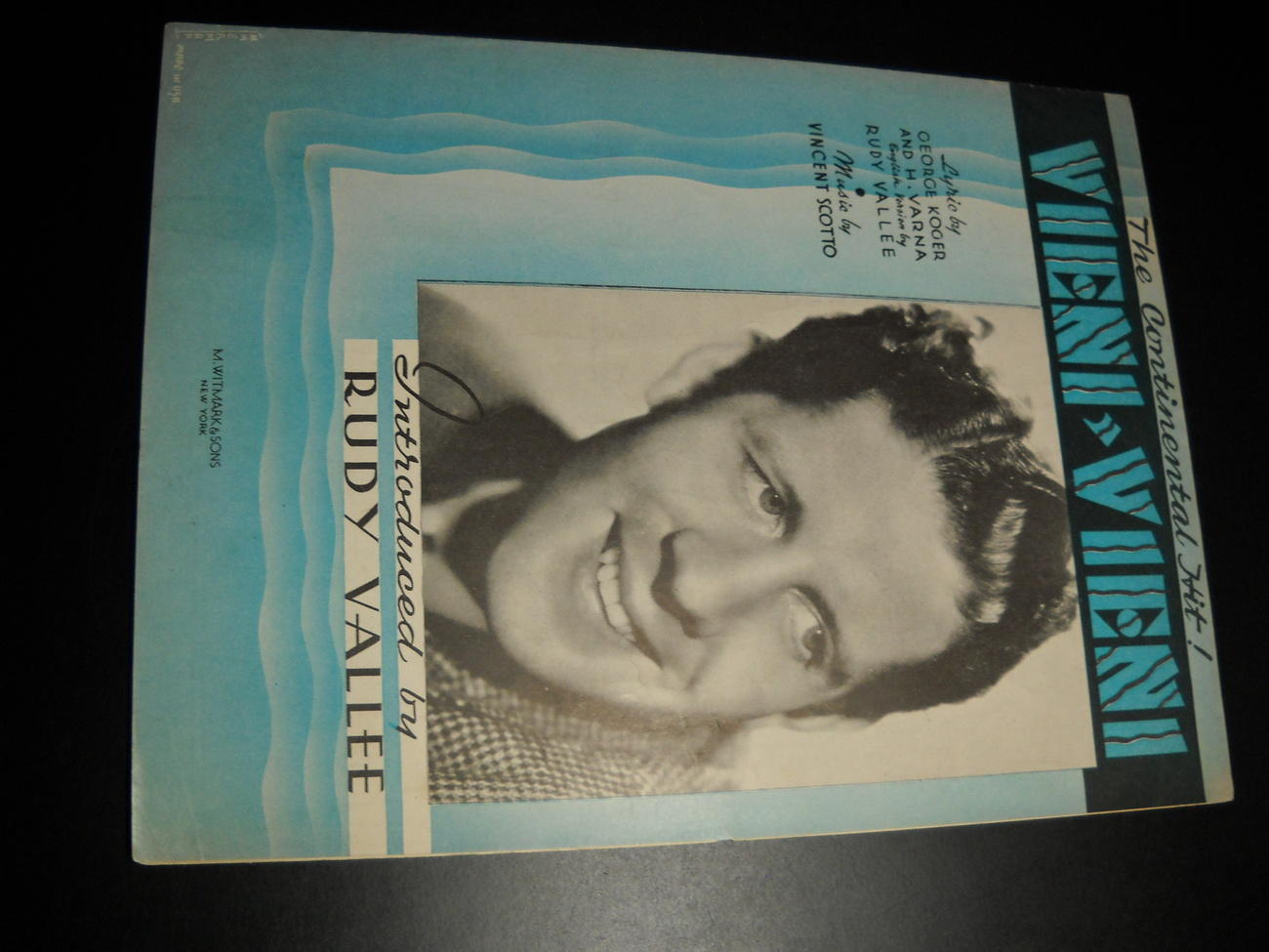 Sheet Music Vieni Vieni Rudy Vallee 1937 George Koger H Varna Vincent Scotto