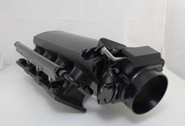 SHORT FABRICATED BLACK GM LS1 LS2 INTAKE MANIFOLD W/ FUEL RAILS & THROTTLE BODY