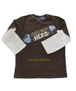 NWT Gymboree Half Pipe Hero Boy Brown Double Sleeve Tee Sz 5 - $9.99