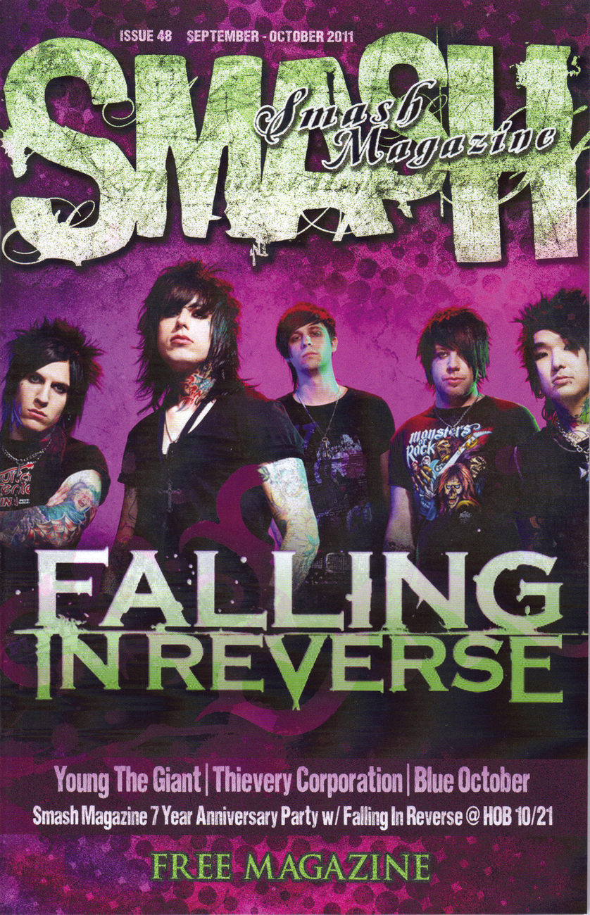FALLING IN REVERSE @ Smash Las Vegas Magazine  Sept-Oct 2011