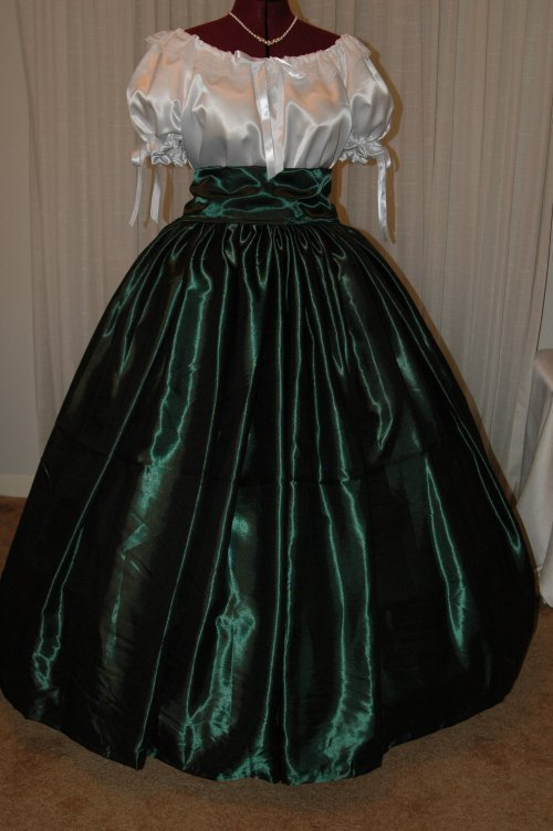 Christmas Red Hat Civil War SASS Ball Gown Reenacting Costume Ladies