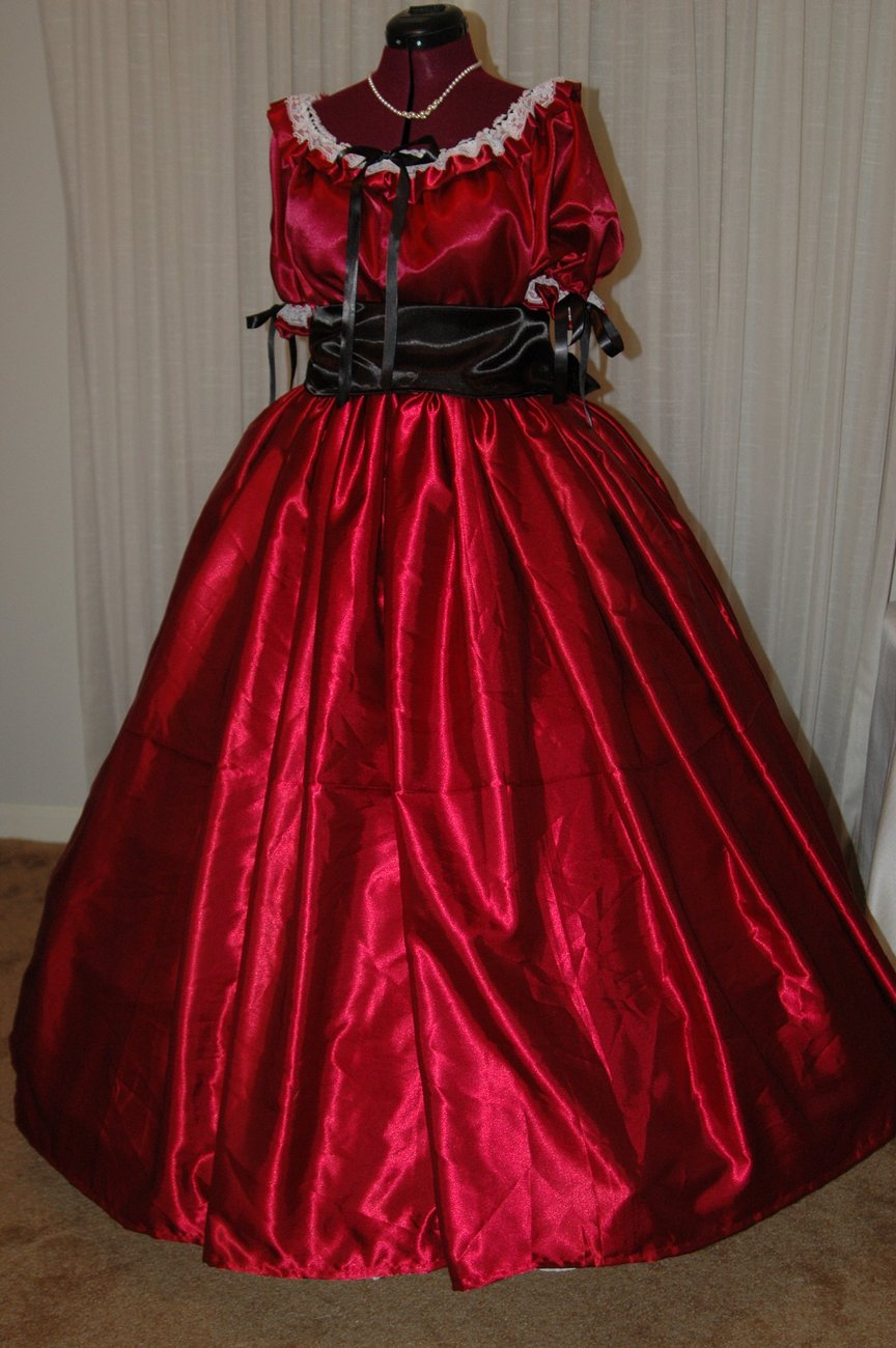 Ladies Juniors Civil War SASS Ball Gown Reenacting Costume 8 10 12 14 16 18 20