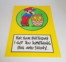 "Vintage Super Mario Brothers Greeting Card Nintendo 1989 - ""I Got You So... - $9.10"