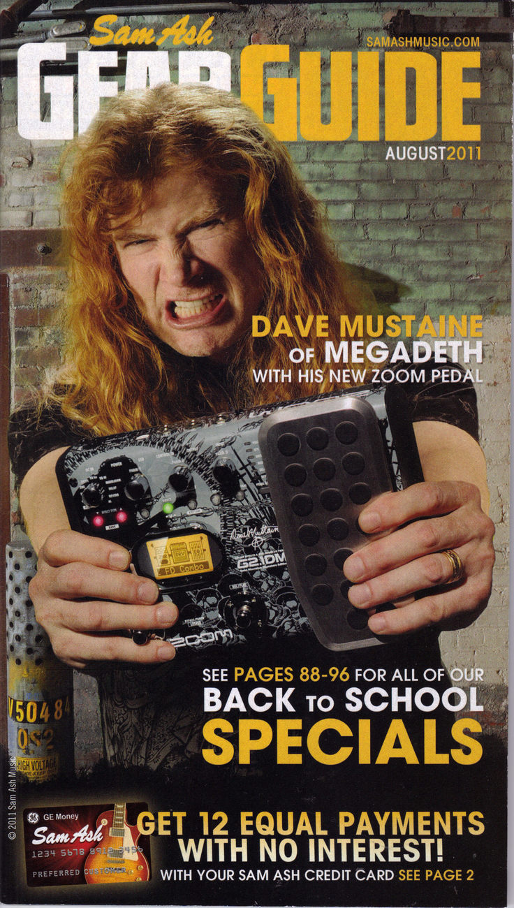 Gear guide dave mustaine
