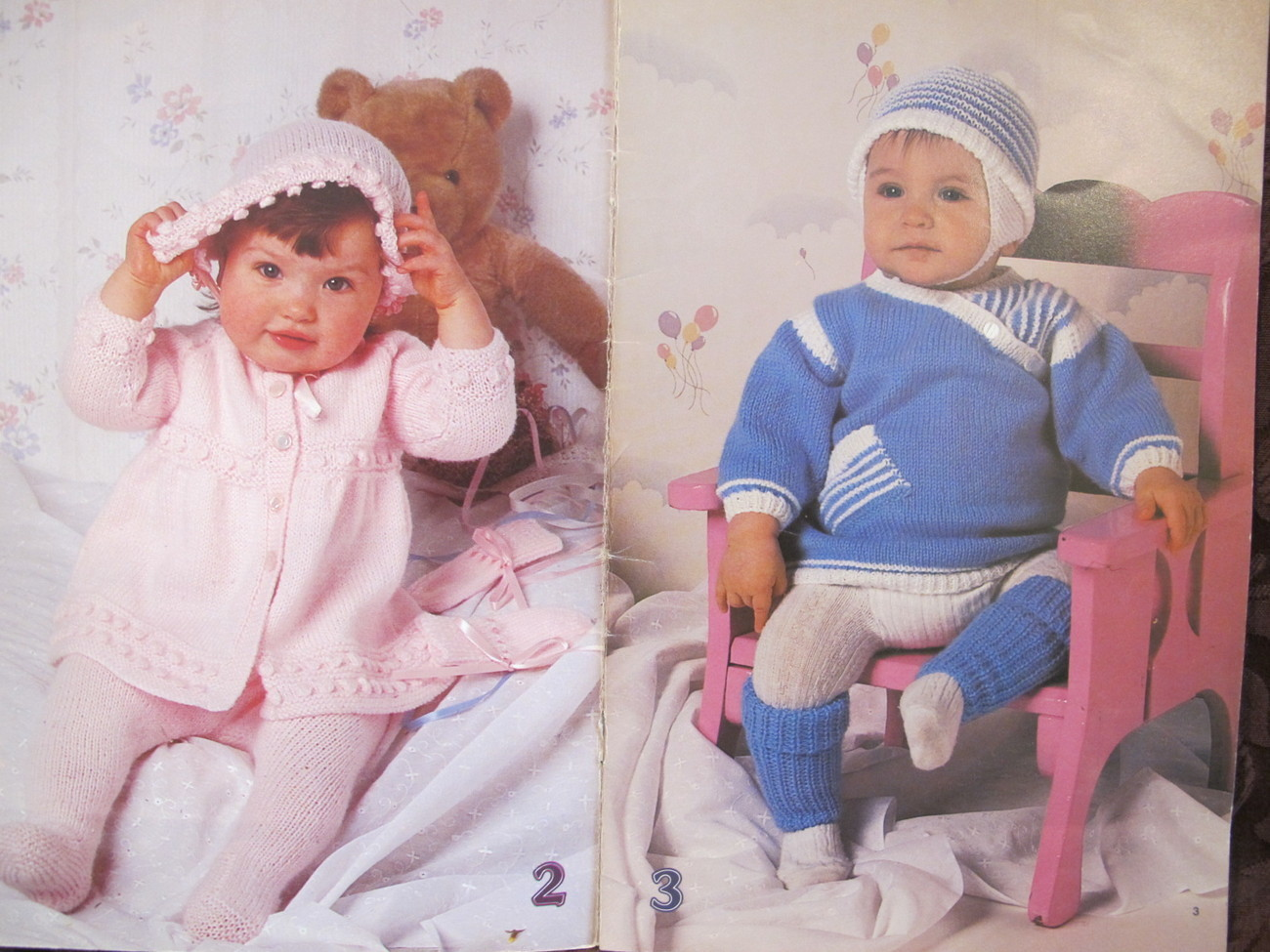 Vintage Beehive Knitting Patterns BABY Bunting Bag Sailor Suit Outfits BABIES
