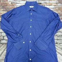Oxxford Clothes Blue Dress Shirt SZ LARGE - $39.55