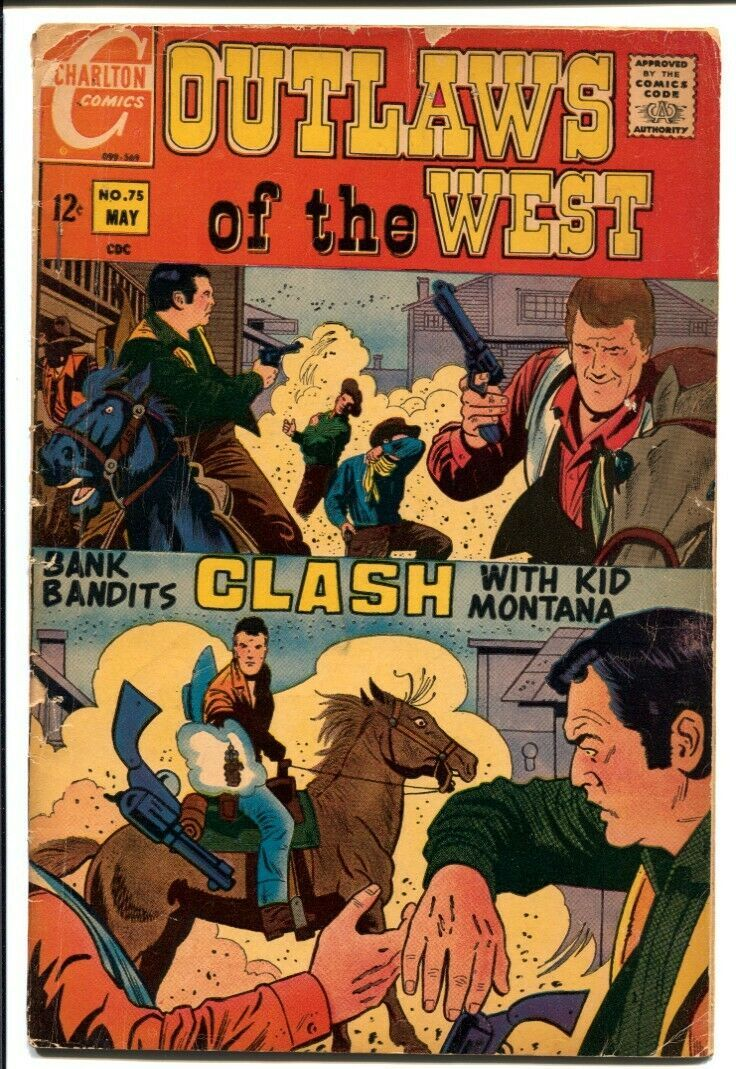Outlaws Of The West #75 1969-Charlton-Capt Doom--Kid Montana-G