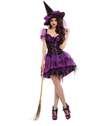 Party King Perfect Purple Witch Body Shaper Dress Costume PK601 - €86,17 EUR