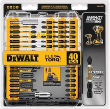 DEWALT Screwdriver Bit Set Impact Ready FlexTorq 40 Piece - $44.99