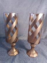 2pc. Gold Cheveron Candleholder Set - $45.94
