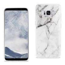 Reiko Samsung Galaxy S8/ Sm Streak Marble Cover In White - $8.86