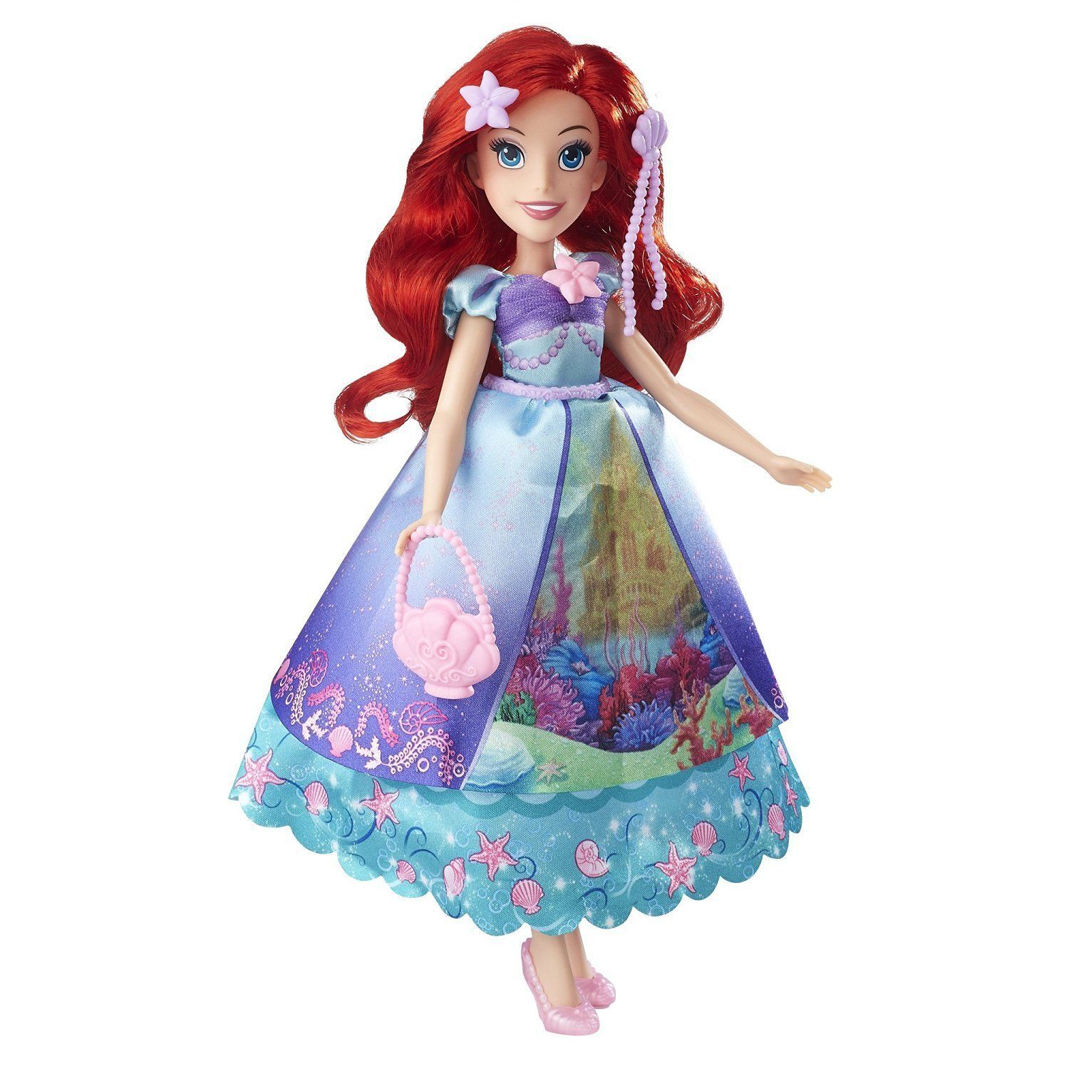 Image 2 of Disney Princess Ariel Layer n' Style Doll in Blue by Hasbro