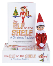 Box Set Elf on the Shelf Doll and Book - Girl - Blue Eyes Dark Hair - Brand NEW