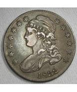 1832 0-120 Capped Bust Silver Half Dollar RARITY-5 CH VF Coin AG44 - $255.35
