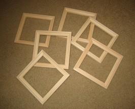 Float unfinished 6x6 frames for panels sets of six(6) - $39.60