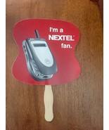 VINTAGE NEXTEL MOBILE PHONE  AD PAPER HAND FAN I'M A NEXTEL FAN  - $25.73