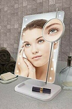 Sharper Image LED Touch Mirror with Vanity Tray in White - $19.75