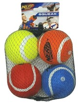 NERF Dog 2.5 in Squeak Tennis Ball Dog Toys Set of 4 - Case Pack of 24 Sets - $199.99