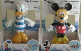 Lot Set 2 Disney Mickey Mouse Clubhouse Donald Duck Water Swimmers Bath Toy 18M - $27.99