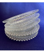 """Anchor Hocking Miss America berry bowls, clear, 6 1/4"""" very good, lot of 5  - $19.79"""
