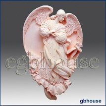 egbhouse,2D Silicone Soap/plaster/polymer clay Mold-Angel of Conception ... - $30.21