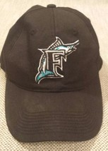 Florida Marlins Baseball Hat One Size Fits Most Snap Back Adjustable Bla... - $14.85