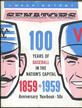 Washington Senators Team Yearbook 1959-MLB-photos-stats-100 years of bas... - $174.60