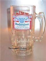 BUDWEISER 1 LITER BEER STEIN MUG - $13.98