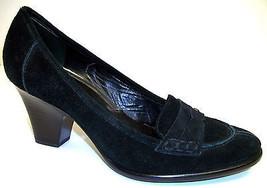 VIA SPIGA Size 8.5 Black Suede heels Pumps Shoe... - $26.10