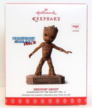 Hallmark 2017 Groovin Groot Guardians of the Galaxy Christmas Ornament M... - $28.90
