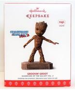 Hallmark 2017 Groovin Groot Guardians of the Galaxy Christmas Ornament Music - £20.28 GBP