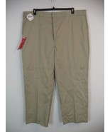 Men's Khaki Dickies Pant. 50 X 32. 65% Polyester / 35% Cotton. Big & Tal... - $23.76