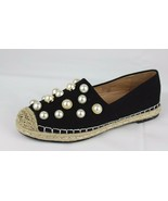 Chase Chloe women's loafers flats black with pearl textile upper size 7 - $18.40