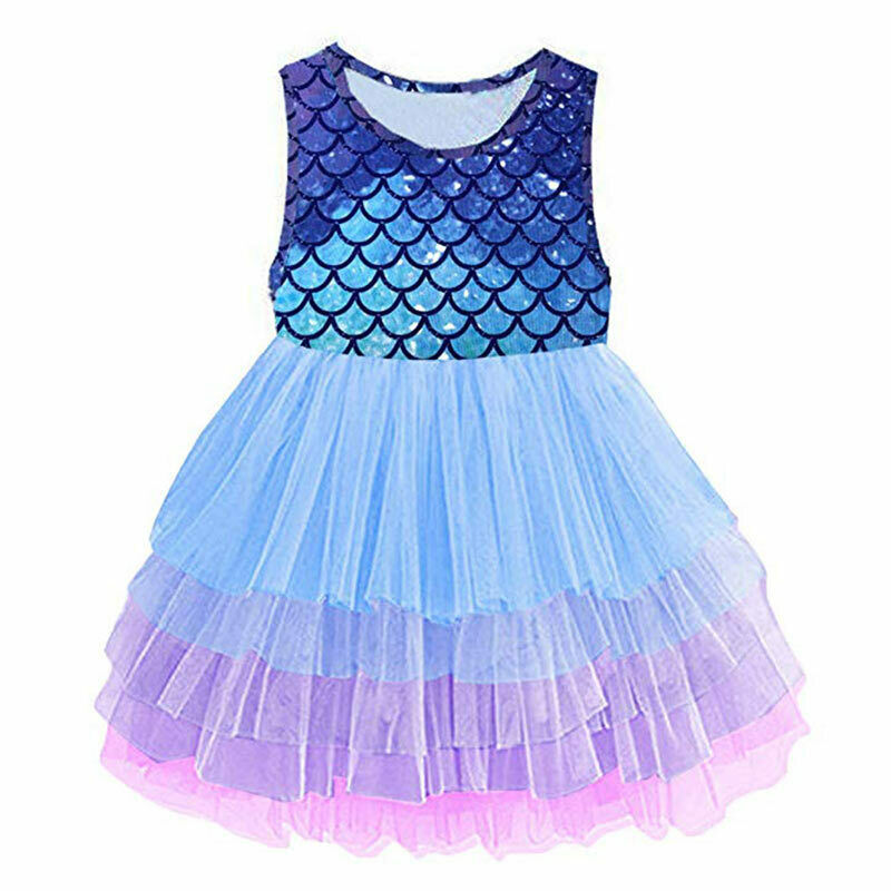 Primary image for NEW Mermaid Girls Purple Sleeveless Tutu Dress 3-4 4-5 5-6 6-7 7-8