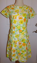 Lilly Pulitzer The Lilly Shift Dress Sz 10 Spring Floral Lace Trim Vintage - $186.99