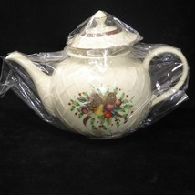 NEW SEALED LENOX HOLIDAY TARTAN CARVED TEAPOT & LID Perfect With Origina... - $74.20
