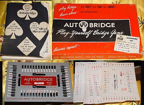 Vintage Autobridge Set Play Bridge By Yourself Game