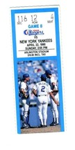 Texas Rangers New York Yankees Ticket Arlington Stadium April 22, 1990 - $21.78
