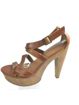 Mossimo Supply Womens 11 Brown Open Toe Platform High Heel Shoe - $14.92