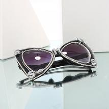 Sen Maries Diamond Sunglasses Women  Luxulry Brand  Butterfly Oversized Sunglass image 4