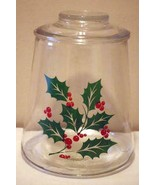 Indiana Glass Holly Leaves Cookie Jar - $11.77