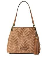 Michael Kors Women's Raven Large Leather Shoulder Bag (Acorn/Butter) - $328.00