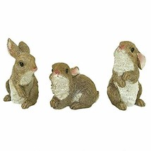 The Bunny Den Rabbits Garden Animal Statues, 5 Inch, Set of Three - $31.61