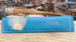 Amber Handrolled Natural Himalayan Flora Tibetan Incense Sticks- - $4.19