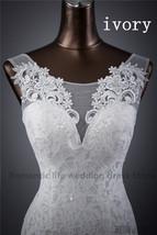 Lace floral mermaid Wedding Dress at Bling Brides Bouquet Online Bridal Store image 12