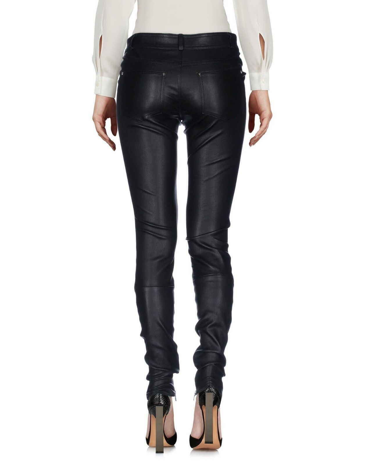 Trendy Soft Slim Fit Casual Hot Women's Genuine Soft Lamb Skin Leather Pants